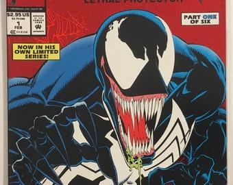 Venom: Lethal Protector #1 Rare Newsstand Variant VF 8.0 WP - Marvel Comics Movie Soon