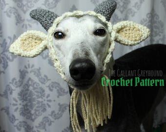 Goat Snood for Dogs Crochet Pattern (PATTERN ONLY!)