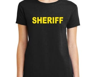 SHERIFF T-Shirt Law Enforcement Officer shirt Mens Womens Kids sizes