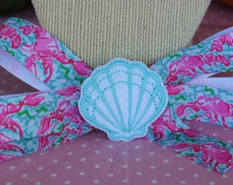 Lily Pullitzer Inspired Hair Bow