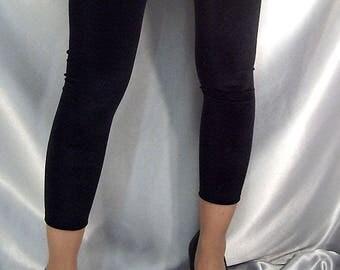 Black Velour footless stockings leg warmers