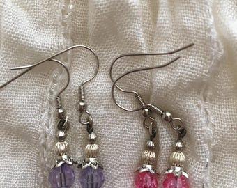 Purple&Pink Earring Set