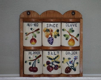 Spice Rack/ Quality GNCO Product/ 1950s Kitschy Kitchen