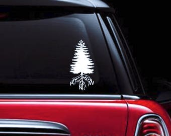 Pacific Northwest Roots - Pacific NorthWest Decal - Outdoors Decal - Tree Decal