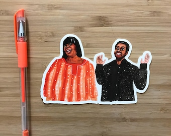 Parks and Rec Vinyl Sticker, Treat Yo Self, Parks and Recreation Gift, Vinyl Sticker, Treat Yo Self, Aziz Ansari, Ron Swanson, Amy Poehler