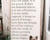 2x4, 1 Corinthians 13:4-7...