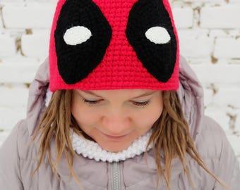 Deadpool Hat | Crochet | Beanie