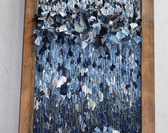 Nothing Wasted; Recycled Jean Weaving