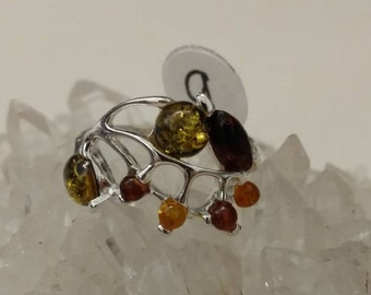 Authentic Baltic Amber Ring Size 9