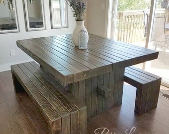 Post Style Farm Table
