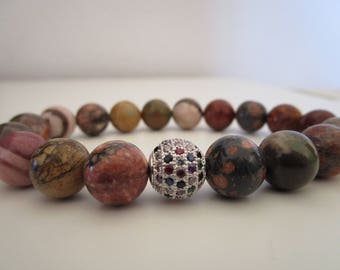Natural stones bracelet for women, Jasper, Jasper zebra bracelet, bracelets, gift, gift for women, jewelry, beaded bracelet, womens jewelry
