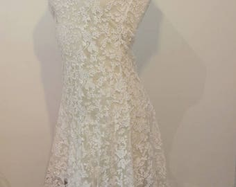 Vintage dress 1980 Gatsby style 1920's charleston 6-8 UK wedding / / vintage 1980s dress style 1920's Gatsby lace wedding XS S