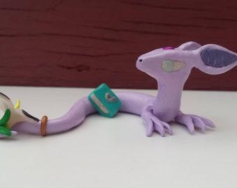 Alana the cave serpent   Handmade Polymer clay dragon   Serpent Dragon figurine  