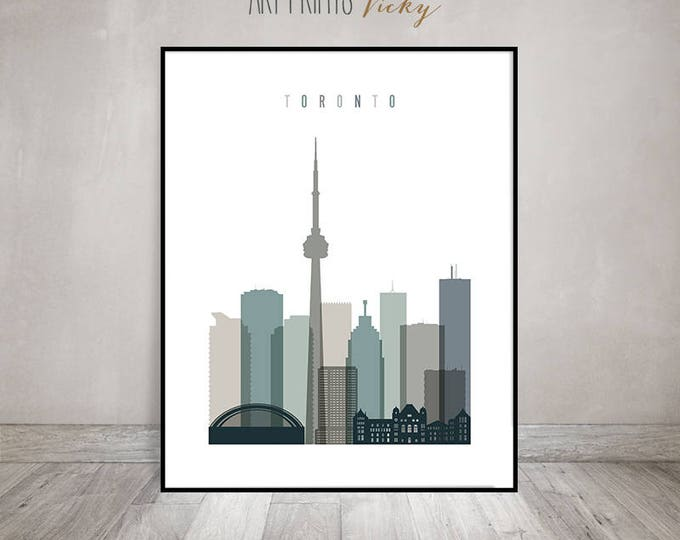 Toronto skyline, art print, Toronto wall art, Poster, cityscape, Travel decor, new house gift, Home Decor, Travel decor, ArtPrintsVicky