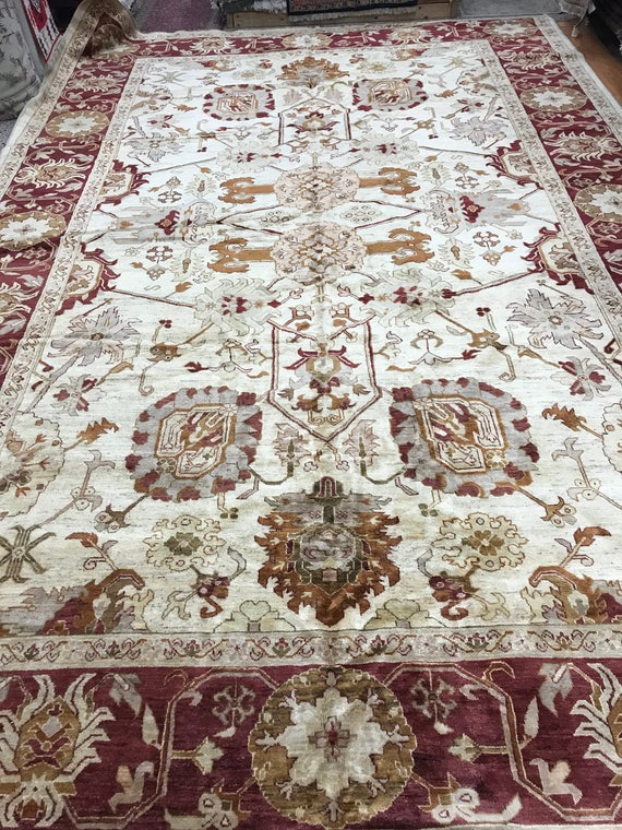 "10'2"" x 15'5"" Pakistani Peshawar Oriental Rug - Hand Made - 100% Wool - Vegetable Dye"