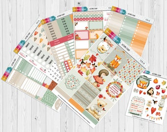 Autumn Charm Planner Stickers | Autumn Sticker Kit | Planner Stickers | Fall Planner Stickers (17215-01)