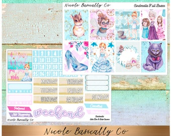Cinderella Full Vertical Kit for Erin Condren Life Planner and other planners