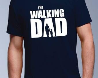 Walking Dad Tshirt Gift Dead