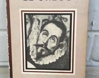 vintage El Greco book, Hyperion Miniatures, New York, Lithographed USA, Duenewald Printing, 1941
