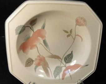 """Mikasa Silk Flowers Soup Bowl Salad 8 1/4""""  F3003 EXCELLENT!"""