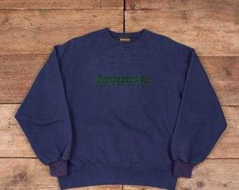 "Mens Vintage Timberland Weathergear Blue Jumper Sweatshirt Large 44"" R7974"