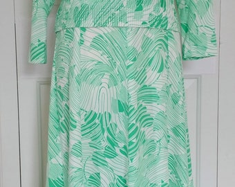 Vintage Hal Ferman Retro 70s Two Piece Blouse and Maxi Skirt