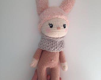 Crochet amigurumi baby room décor forest Pixie munchkin Bunny doll