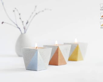 Tea light holder from Beton_METALLIC