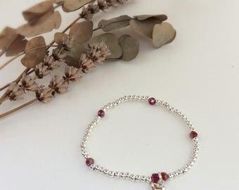Heart bracelet, silver heart bracelet, valentine bracelet, valentines jewellery