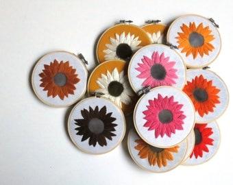 Flower Embroidery Hoop Art