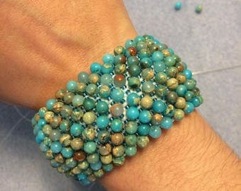Capricho bracelet in turquoise and white