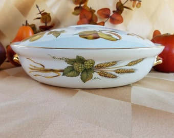 Royal Worcester Covered Round Casserole, Oven To Table, Shape 22, Size 1,
