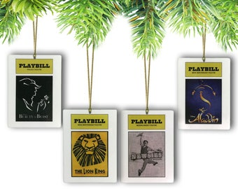 Disney Broadway Playbill Ornaments (Pick and Choose from all 8 Musicals)