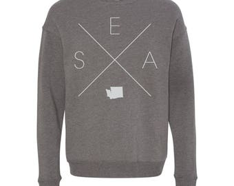 Seattle Sweatshirt - SEA Home Sweater, Washington Off Shoulder Sweatshirt
