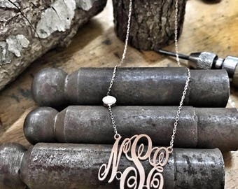 Monogram Custom Name Necklace • Children Necklace • Personalized Name Jewelry • Baby Shower New Mom Gift • Bridesmaid Gift • Christmas Gift
