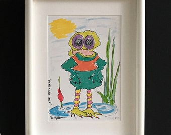 Limited Edition. Frog. Cheerful colours print for kids room. ' No, all's well. Why? '