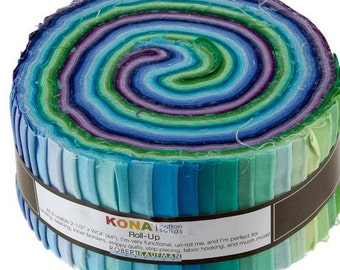 SALE! KONA Cotton - Roll Up - 40 strips - Sunset
