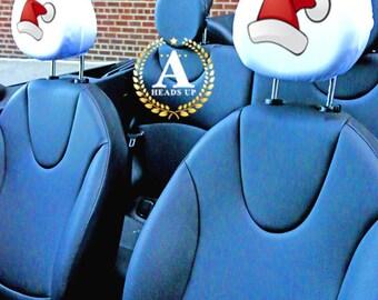 Santa Hat Headrest Covers