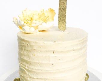 1 Birthday Cake Topper • One Cake Topper • Gold Glitter Topper • Age Cake Topper • Number Cake Topper