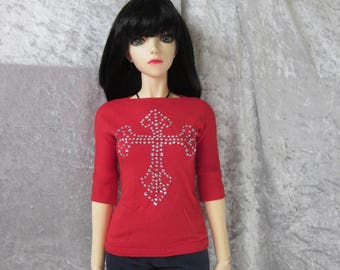 Jersey shirt for SD BJD dolls, also Iplehouse EID