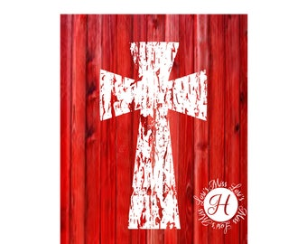 Distressed Cross   SVG dfx Cut file  Cricut explore filescrapbook vinyl decal wood sign cricut cameo Commercial use