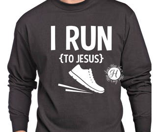 I run to Jesus  SVG DFX PNG Cut file  Cricut explore file Christian svg Jesus svg, Running svg  scripture svg  commercial license