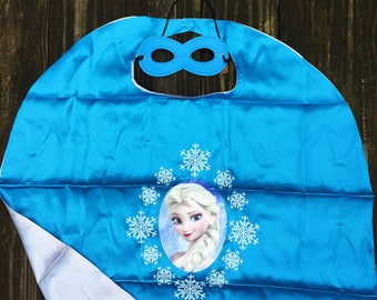 Ready to Ship!Elsa cape and mask,Frozen cape,Elsa cape,Frozen Birthday, Frozen Party Favors,Frozen Costume