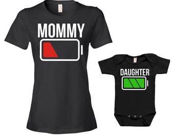 Mother And Daughter Matching Outfits Mommy And Me Clothing Mom And Baby Gifts For New Mom Gift Ideas Family T Shirts Bodysuit - JM209-211