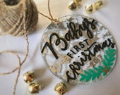 Baby's First Christmas 2017 Ornament // Mercury glass // Handwritten ornament // Ready to gift