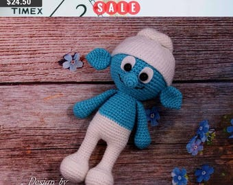 30% SALE Smurfs plush toy smurf amigurumi smurfs crochet smurf stuff toy smurf gift for baby stuffed toys stuffed plush toys