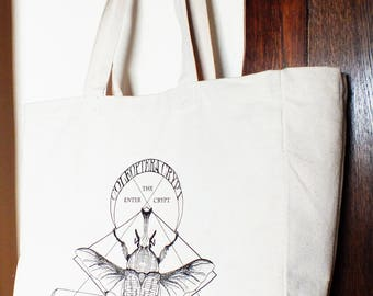 tote bag or canvas shopper in all natural bug friendly eco fair trade cotton