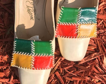 "Vintage Multi-Color Ferragamo Shoes ""Rare-ra-gammos!"" Size 8AA"