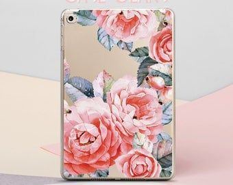 Flowers iPad Pro 10.5 Case Florals iPad Air Case Clear iPad Pro 9.7 2017 iPad with Smart Cover iPad Mini iPad Mini 2 iPad Pro Case CG4040