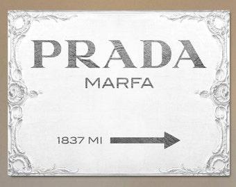 Prada Marfa Canvas Print BRIGHT WHITE - Gossip Girl